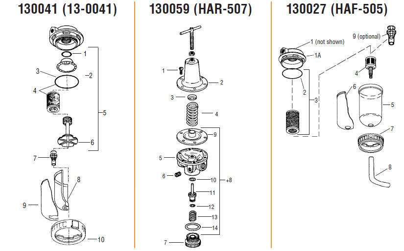 Air Regulator Filters Control Units