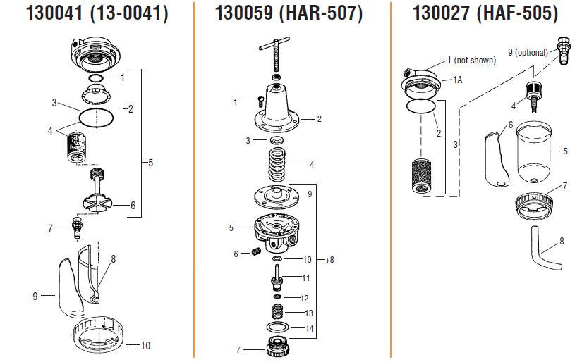 Air Regulator Filters Control Units