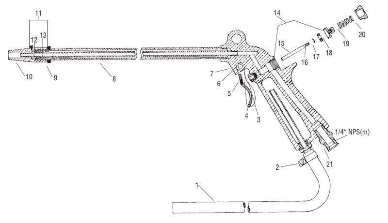 Binks Model 140 B Engine Part Cleaning Gun