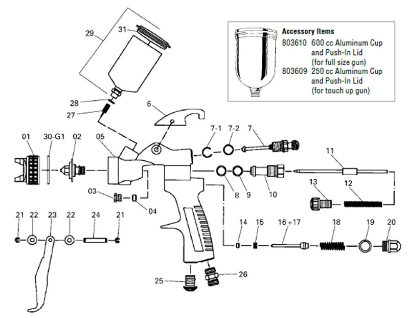 hvlp automotive spray gun kit from startingline rh autorefinishdevilbiss com Simple Wiring Diagrams Simple Wiring Diagrams
